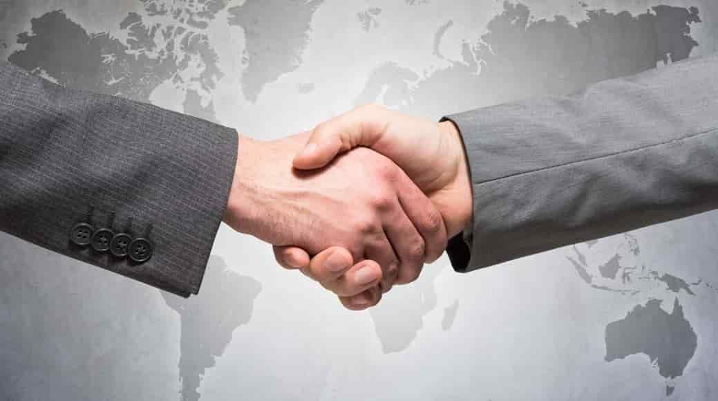 Professional Global Business Handshake