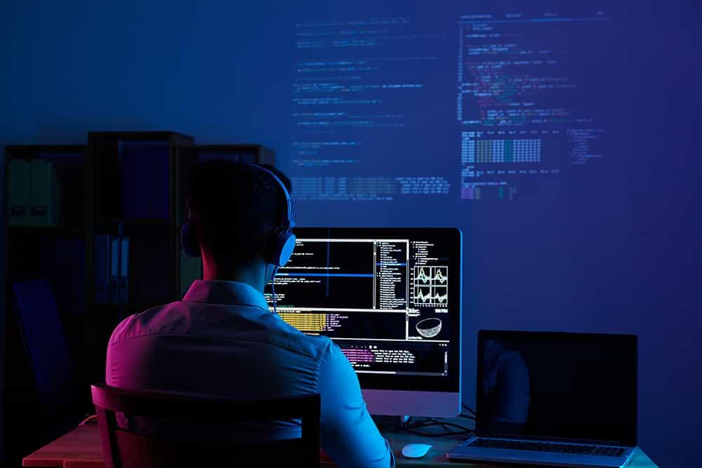 Coder Working on Digital Transformation